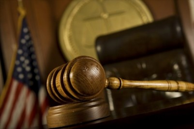 Criminal courtroom with gavel during pretrial diversion hearing